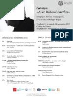 Afiche Colloque Roland Barthes New5 2