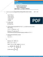 AP - Math Sample Paper-1-Solution for Class 10