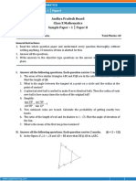 AP-Math Sample Paper-2 for Class 10