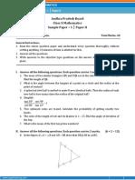 AP-Math Sample Paper-2 for Class 10