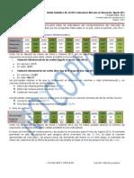 FAVENPA Boletín Estadístico No 50 2015 Indicadores Mercado de Reposición Ago 2015
