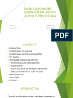 Fuzzy Based Coordinated Control Design for AVR and PSS