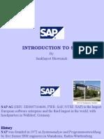 SAP INTRODUCTORY Presentation