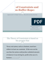 Theory of Constraint and Drum Buffer Rope