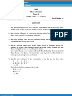 CBSE-Science Sample Paper-1-SOLUTION-Class 10-(SA-I)
