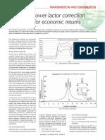 Designing Power Factor Correction for Economic Returns
