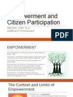 Empowerment and Citizen Participation