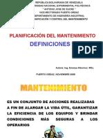 PLANIFICACIONDEL MANTENIMIENTO