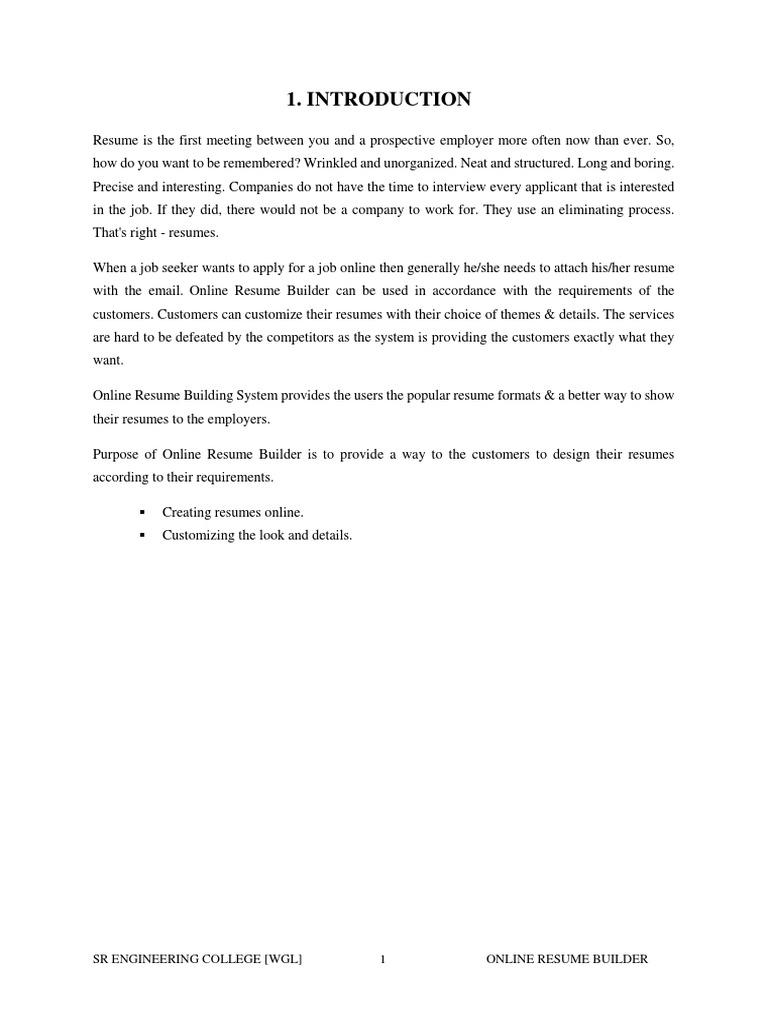 Online Resume Builder | Php | Databases