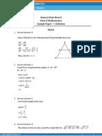 GUJARAT Maths Sample Paper 1 SOLUTION Class 10 Question Paper
