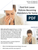 Paid Sick Leave Policies Becoming Mandatory for Some