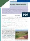 Ita Nia Rai (Our Land) Project Information Brochure