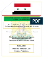 Position Paper Syria