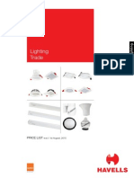 Lighting Trade Pricelist 1st August 2015