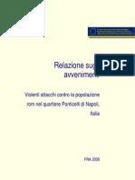 FRA Rapporto Ponticelli Italia e i Rom