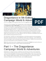 Dragonlance in 5th Edition – Campaign World & Adventures on Tribality