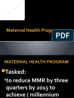 Maternal Health Program