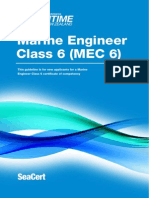 Marine Engineer MEC6 Certificate MNZ Guideline