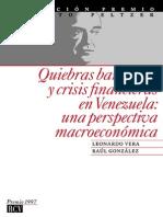 Quiebras Bancarias en Venezuela