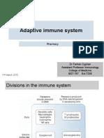 adaptive immunity Pharmacy yr 1 UoS - Cyrpian 2015.pptx