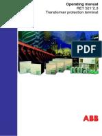 ABB RET521 operating manual