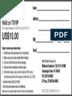 Dunham's $10 T31VP Rebate