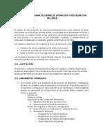 Cei Cap 12. Programa de Cierre de Operaciones y Restauracion