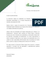 Carta de apoyo al Festival Interpueblos del colectivo ZAITUNA de Terrassa