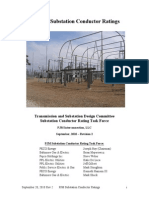 Outdoor Substation Conductor Ratings