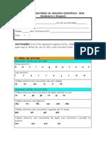 Teste Exploratorio de Dislexia Especifica-PEDE
