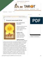 Oraculo Lenormand_ El Sol - La Magia Del Tarot