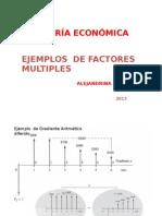 Ejemplos de Factores Multiples