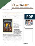 Oraculo Lenormand_ El Perro - La Magia Del Tarot