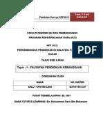 KPF3012-FALSAFAH PENDIDIKAN KEBANGSAAN