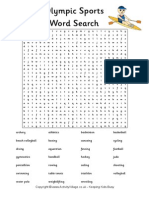 olympic sports word search