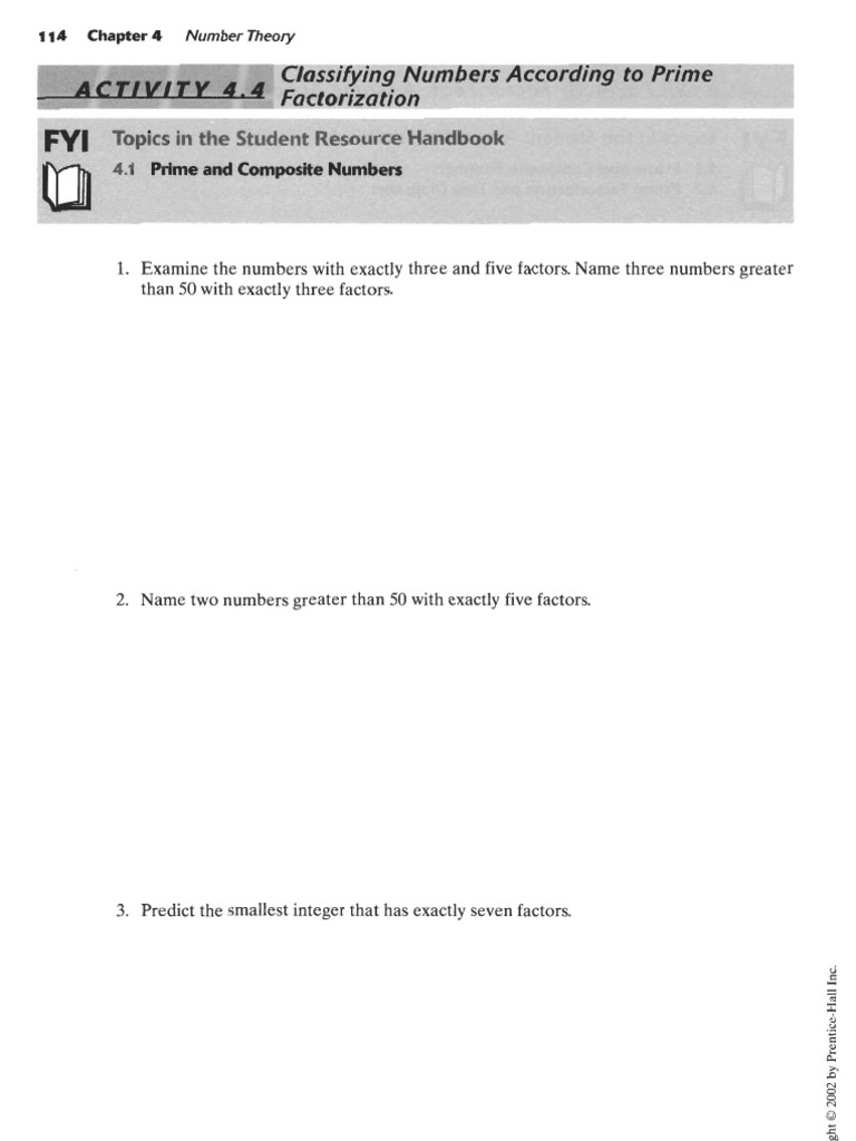 Worksheet Prime Factorization Of 441 prime factorization