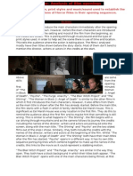 Codes and Conventions of Horror Films