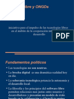 Software libre y ONGDs