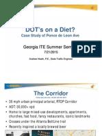 Ponce de Leon Road Diet Study - October 5th, 2015
