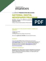 National Digital Newspaper Program Guidelines