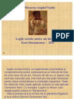 Legile sociale antice ale lui Moise din 'Deuteronom'  - Eseu Documentar /  2011(PPT)