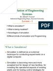Simulation of Engineering Systems