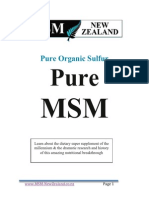 Pure Organic Sulfur MSM