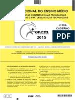 ENEM 2015 - Caderno Amarelo - Sábado