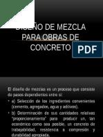 Diseño de Mezcla Para Obras de Concreto y Marshall