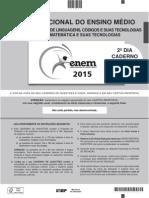 ENEM 2015 - Caderno Cinza - Domingo