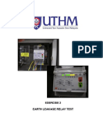 Lab 2 - Earth Leakage Relay Test (Lab 2) BEF 45101