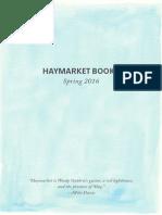 Haymarket Books Spring 2016 Catalog