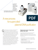 A New Process for Super Coiled Plasmid DNA Purification