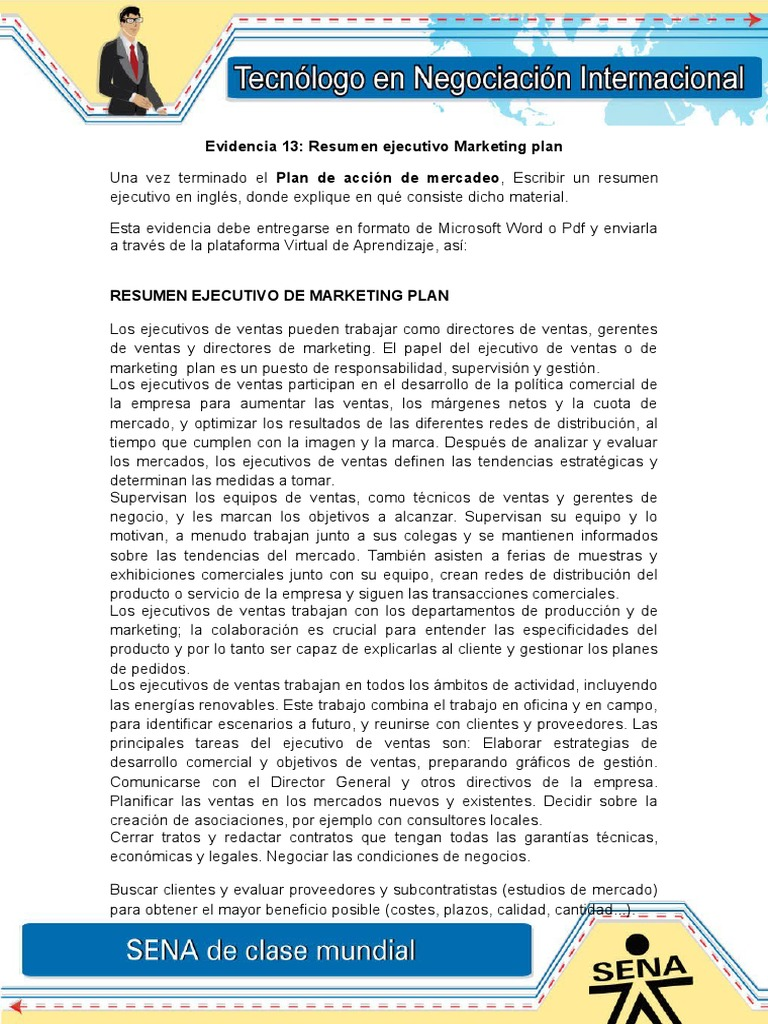 Evidencia 13 Resumen ejecutivo Marketing plan.doc